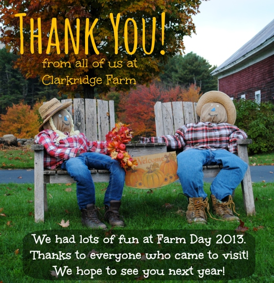 farm day 2013 thank you